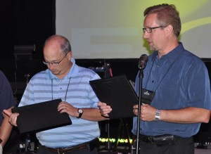 Jeff Bleijerveld recognized the churches that had given the most to missions.