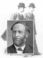 Bishop Milton Wright, with his two famous sons.
