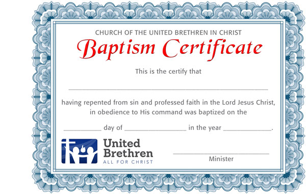 Certificates | Church Of The United Brethren