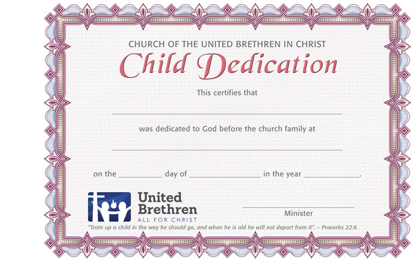 Certificates  Church Of The United Brethren