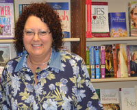 Jane Seely in the bookstore