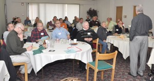 Bishop Phil Whipple speaking to the cluster leaders in 2011.