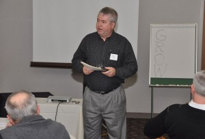 Bishop Phil Whipple at the cluster leader training in 2011.