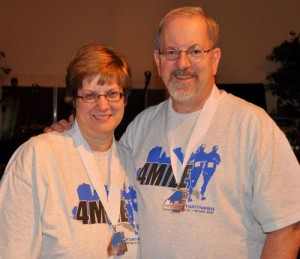 Pam and I both did the 4-mile walk in the annual Fort Wayne Fort4Fitness.