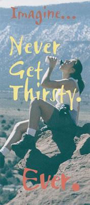 Evangelistic Brochure Never Get Thirsty